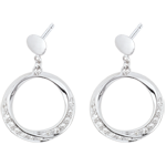ventes Boucles d'oreilles Lady or blanc et diamants