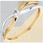 achat en ligne Bague solitaire Ella or jaune or blanc - 0.08 carat