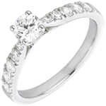bijoux or Bague Solitaire Belle Chérie or blanc et diamants - diamant 0.4 carat