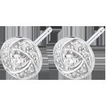Kolczyki Przeznaczenie - Artemida - złoto białe 18-karatowe i diamenty