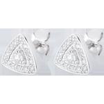 Boucles d'oreilles Première or blanc 18 carats et diamants