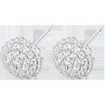 cadeau femmes Boucles d'oreilles Destinée - Olga - or blanc et diamants