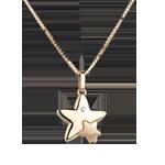 acheter on line Duo étoiles - grand modèle - or jaune - 9 carats