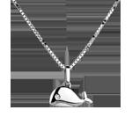 cadeaux femme Baleineau - grand mod�le - or blanc