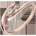 vente en ligne Solitaire Nid Précieux - Orion  - or rose - 18 carats