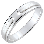 Alliance Promesse - tout or - or blanc bross� - 18 carats