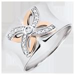 cadeaux femmes Bague Fraicheur - Lys d'Été - or blanc, or rose - 9 carats