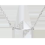 bijou or Collier Genèse - Diamant brut or blanc - 18 carats