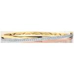 Bransoletka Saturn w kształcie koła z diamentem - trzy rodzaje złota - trzy rodzaje złota 9-karatowego