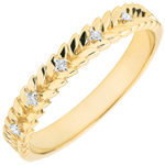 Geschenke Frauen Ring Verzauberter Garten - Diamant Flechtwerk - Gelbgold - 18 Karat