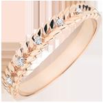 Schmuck Ring Verzauberter Garten - Diamant Flechtwerk - Roségold - 18 Karat