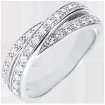 ventes on line Anneau Saturne Diamant - or blanc - 29 diamants - 9 carats