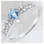 ventas on line Anillo de compromiso Margot - topacio y diamantes 0.3 quilates - oro blanco 18 quilates