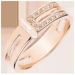 ventes en ligne Bague Gloria - diamants et or rose 9 carats