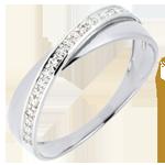 Wedding Ring Saturn Duo - diamonds - white gold - 18 carat