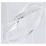 cadeaux Bague Marina or blanc et diamant