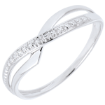 Ring Marina 9 karaat witgoud met Diamant