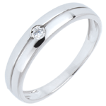 cadeau femmes Bague Edenit� or blanc et diamant - diamant 0.022 carat