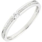 Bague Solitaire Ultima - or blanc 18 carats