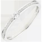 Inel Solitaire Suprem - aur alb de 18K