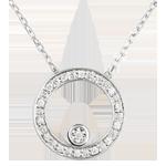 cadeaux femme Collier Cercle d'élégance or blanc