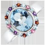 ventes Bague Fleur d'eden - Argent et pierres fines