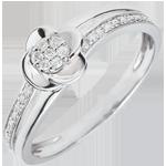 achat en ligne Bague de fian�ailles or blanc P�tales de Rose - 0.075 carat