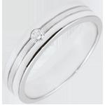 bijou or Alliance Star Diamant - Petit mod�le - Or bross�
