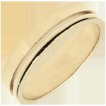 Yellow Gold Olympia Wedding Band - Average Model - 18 carats