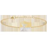 Bransoletka Krzyżyk z żółtego złota 9-karatowego z diamentami