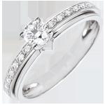 achat on line Bague de Fian�ailles Solitaire Destin�e - Ma Reine - variation - or blanc - 18 carats