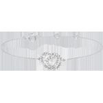 Bracelet or blanc 9 carats et diamants - Coeurs Complices