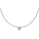 ventes Collier cable or blanc puce diamant (TGM)