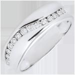 Hochzeit Ring Amour - Diamantenschwarm - Weißgold - 9 Karat