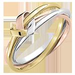 Ring Origami Herz 3 anneaux - in 375er Weiß-, Gelb- und Roségold