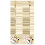 Folding Heart Drop Earrings - 3 golds