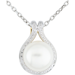 Adélie Pendant with pearls and diamonds
