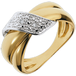 wedding Adorned Yellow Gold Boucle d'Or Ring - 6 Diamonds
