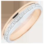 Alianza Elegancia oro blanco y oro rosa - 18 quilates