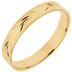 Alianza Frescura - Ramas de olivo grabado-oro amarillo - 18 quilates