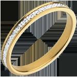 Alianza Pandora - oro blanco y amarillo 18 quilates