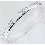 regalo mujer Alianza Promesa - oro blanco y diamantes - pequeño modelo - 18 quilates
