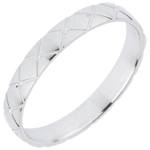 Alliance Coussin D'Or - or blanc 18 carats