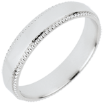 Alliance Empereur - or blanc 18 carats