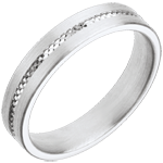 Alliance Empreinte - or blanc 18 carats