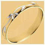 ventes en ligne Alliance Fraicheur - Lierre gravé - Or jaune - 18 carats