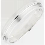 femme Alliance Hélios or blanc 18 carats