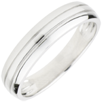 Alliance homme Cronos or blanc 9 carats