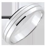 acheter en ligne Alliance homme Cronos - or blanc brossé - 18 carats