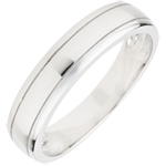 bijouterie Alliance homme Horizon or blanc 9 carats